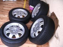 Foto 3 4 gebrauchte Conti Sommerkompletträder SLK Mercedes Benz incl. Leichtschmiedefelge 16 Zoll - original Mercedes Benz Räder MO