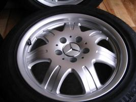 Foto 4 4 gebrauchte Conti Sommerkompletträder SLK Mercedes Benz incl. Leichtschmiedefelge 16 Zoll - original Mercedes Benz Räder MO