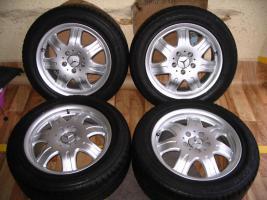Foto 5 4 gebrauchte Conti Sommerkompletträder SLK Mercedes Benz incl. Leichtschmiedefelge 16 Zoll - original Mercedes Benz Räder MO