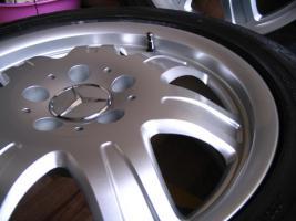 Foto 6 4 gebrauchte Conti Sommerkompletträder SLK Mercedes Benz incl. Leichtschmiedefelge 16 Zoll - original Mercedes Benz Räder MO