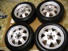 4 gebrauchte Michelin Primacy Pilot Sommerkompletträder SLK Mercedes Benz  incl. 7 Speichen Leichtschmiedefelge 16 Zoll