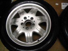 Foto 4 4 gebrauchte Michelin Primacy Pilot Sommerkompletträder SLK Mercedes Benz  incl. 7 Speichen Leichtschmiedefelge 16 Zoll