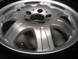 Foto 16 4 gebrauchte Michelin Primacy Pilot Sommerkompletträder SLK Mercedes Benz  incl. 7 Speichen Leichtschmiedefelge 16 Zoll