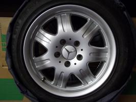 4 gebrauchte SLK Mercedes Benz Leichtschmiedefelgen 16 Zoll ( 7 x 16 ET 34 mm )