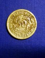 4 mal 50 Rentenpfennig Weimarer Republik
