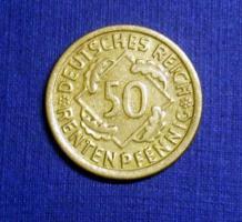 Foto 5 4 mal 50 Rentenpfennig Weimarer Republik