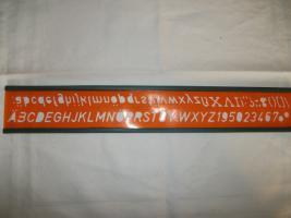 Foto 4 4 verschiedene Schrift-Schablonen, sehr alt (30er / 40er Jahre)