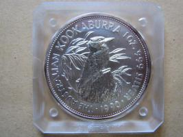 5 Dollar Australien KOOKABURRA 1 UNZE Silber 1990