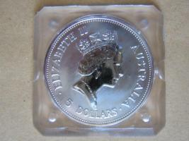 Foto 2 5 Dollar Australien KOOKABURRA 1 UNZE Silber 1990