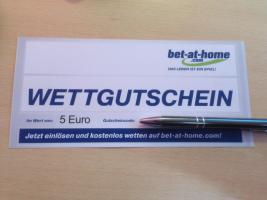 5 Euro Bet at Home Gutschein zu verschenken