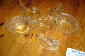 Foto 2 5 Glashühner mit Deckel
