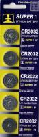 5 Lithium Knopfzellen 3 V CR 2032 im 5er Blister teils in LED Kerzen