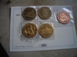 5 Münzen Gedänkprägung Gutenberg Johnannes