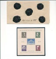 5 fach Reichssiegelbrief  1886, Weimar Wiederaufbau Blöcke, Gross Dt. Reich 1945 seltene Frankatur,