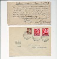 Foto 2 5 fach Reichssiegelbrief  1886, Weimar Wiederaufbau Blöcke, Gross Dt. Reich 1945 seltene Frankatur,