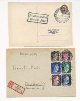 Foto 4 5 fach Reichssiegelbrief  1886, Weimar Wiederaufbau Blöcke, Gross Dt. Reich 1945 seltene Frankatur,