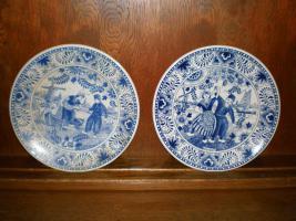 Foto 3 5 wunderschöne Wandteller & 4 Vasen in blau von Delft