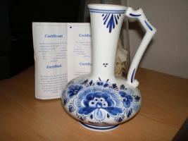 Foto 5 5 wunderschöne Wandteller & 4 Vasen in blau von Delft