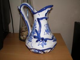 Foto 6 5 wunderschöne Wandteller & 4 Vasen in blau von Delft