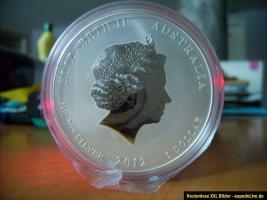 5 x je. 1 Unze Lunar II Drache 2012 - Privy Mark Silber-Anlagemünze Selten