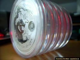 Foto 3 5 x je. 1 Unze Lunar II Drache 2012 - Privy Mark Silber-Anlagemünze Selten