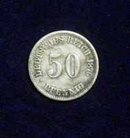 50 Pfennig Silber, Kaiserreich