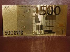 500 Euro Gold Banknote Vergoldet