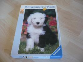 500 Teile Puzzle mit Hundemotiv