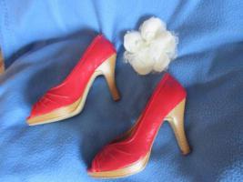 Foto 2 50er Jahre Pinup * Rockabilly- Style * Lack- Leder- Imitat * High- Heels * Peep Toes * PUMPS * SCHUHE ''Graceland' Gr. 36- 36,5/ 3- 3,5 * rot *