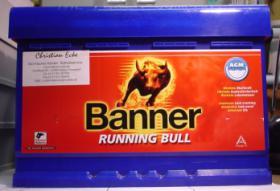 57001 Banner Running Bull