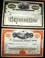 Foto 3 6 Historische Wertpapiere: Aktien, Schuldschein,