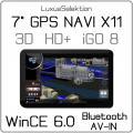 7   GPS Navigationssystem NC-X11 * Digital HD+ 800 x 480 * 3D * iGO 8 * WinCE 6.0 * 533 MHz * PKW * LKW * Motorrad * AV-IN * Bluetooth
