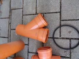 Foto 4 7 Teile Kg Rohr Winkel Muffen Abzweige und 2 Dichtungen