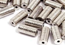 8 Metallspacer(8) , Nickelfrei, 13 x 6 mm, Silberfarben, Fädelloch 1,5 mm