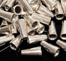 8 Spacer/Perlen(10), Nickelfrei,15 x 8 mm, Fädelloch 2 mm, Silberfarben