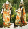 ♥Maxikleid♥ Kaftan orange Inka neu ♥ Hauskleid XL ♥ XXL