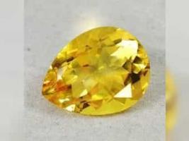 9,20 ct , ECHTER - VVS , TOP Golden Yellow Citrin + GLB Zertifikat