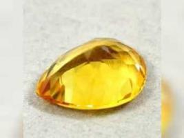 Foto 2 9,20 ct , ECHTER - VVS , TOP Golden Yellow Citrin + GLB Zertifikat