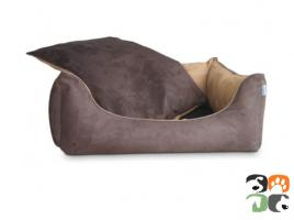 Foto 2 ADViN Wildleder-Look Hundebett Hundesofa, diverse Farben & Größen