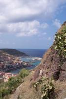 Castelsardo Blick von der Burg aud die Marina