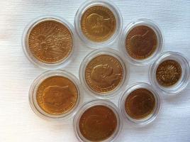 AUS SAMMLUNG 8 Gold Münzen, 5M, 10 M, 20 Mark vom Kaiserreich, sehr seltene Stücke dabe