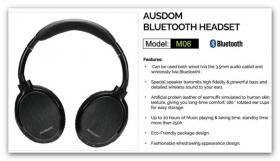 AUSDOM M06 Wireless Headphones Euro 46