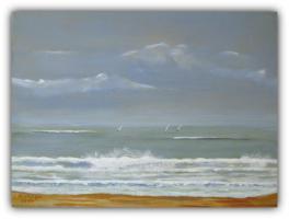 Acryl/Leinwand 30 cm x 40 cm x 1,5 cm   Segelturn
