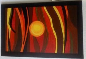 Acrylbild Der helle Punkt