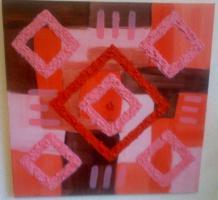 Acrylbild red Cross