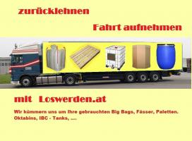 gebrauchte Bags, Fässer, IBC Tanks, Paletten und Oktabins