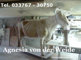 Agnesia von der Weide - Holstein Kuh lebensgross neues Modell ... Tel. 033767 - 30750