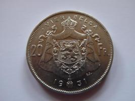 Foto 2 Albert König der Belgen, 20 Franc, 4 Belga, Nickel Der Belga 1931