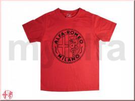 Alfa Romeo Milano Kinder T - Shirt hellrot Größe 140 - 146