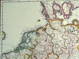Foto 2 Alte Karte Deutschland um 1665  (B037)